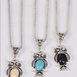 Jewelry - 6 Pack Wholesale Owl Necklace Lot